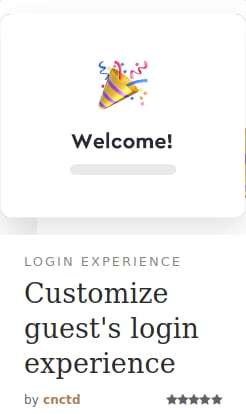 Login Experience